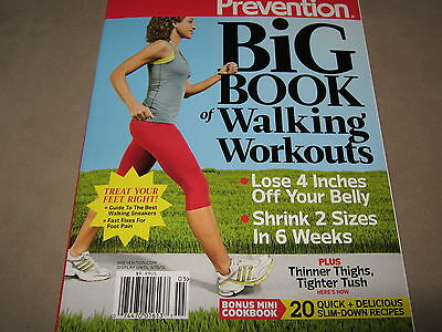 NEW Prevention BIG BOOK of WALKING WORKOUTS Womens Fitness Mini COOKBOOK RECIPES