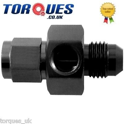 "AN -10 AN10 Male- Female Union 1/8"" NPT Side Port Black"