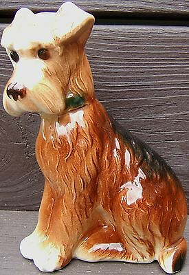 Vintage IRISH or WELSH TERRIER Ceramic DOG Figurine Figure 1960s