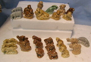 ** Vintage *** WADE Animals Figurines ** LOT #2 -- 28 pieces **