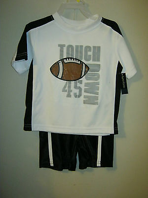 new boys Touch down football shorts set outfit 3T toddlers Faded Glory 2 pc