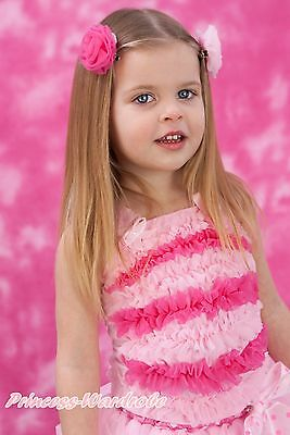 Light Hot Pink Ruffles Pettitop Girl Tank Top Matching For pettiskirt 1-8Year