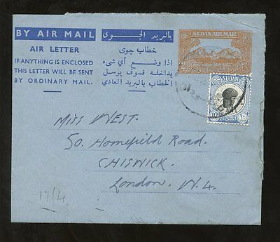 1953 STATIONERY AIRLETTER... UPRATED to GB