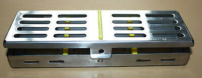Sterilization Cassette Rack for 5 Dental Surgical Instruments yellow Silicon CE.