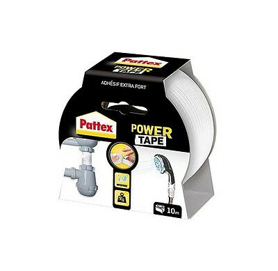 RUBAN ADHESIF EXTRA FORT BLANC 10 M POWER TAPE PATTEX resiste pression ETANCHE
