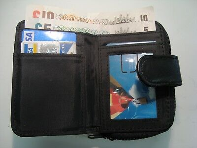 Soft leather Credit Card Purse Wallet Compact Size Organizer