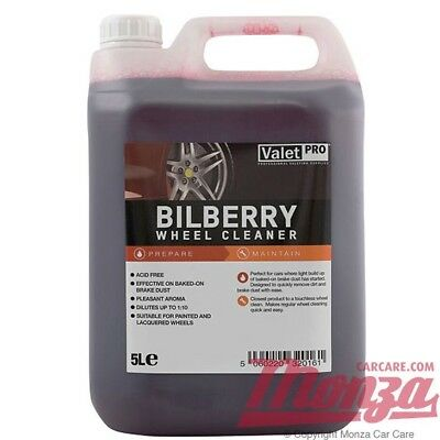 Valet PRO Bilberry Car Alloy Wheel Cleaner **LARGE VALUE 5 LITRE CONTAINER**