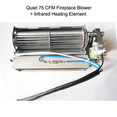 Replacement Fireplace Blower + Heating Element for Heat Surge Electric Fireplace