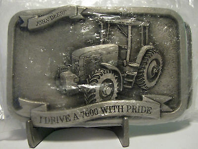 1993 John Deere 7600 Tractor Belt Buckle Drive With Pride Serial #000027  Moline
