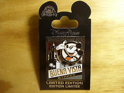 Disney DLR California Adventure Grand Opening Buena Vista Mickey Mouse 2012 Pin