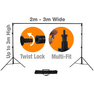 XL Pro+ 3m x 3m Background Stand System - ULTRA Heavy Duty Backdrop Supports