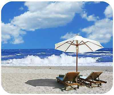 Mouse Pad Custom Thick Mousepad-Beach 2 - Add Any Text Free