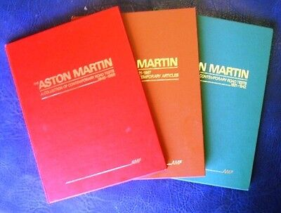 Aston Martin Collection 3 Volumes Adrian Feather Road Tests Articles