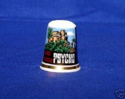 'Psycho' Film Poster Bone China Thimble B/62