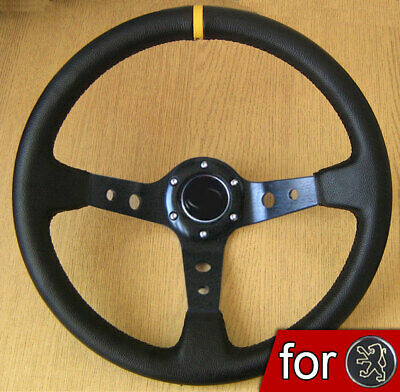 Deep Dish Rally Steering Wheel for PEUGEOT 106 206 306 XS XSI 205 GTI 406 307