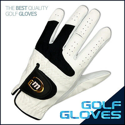 6 Brand New Md Golf Men's Fine Cabretta Leather Gloves