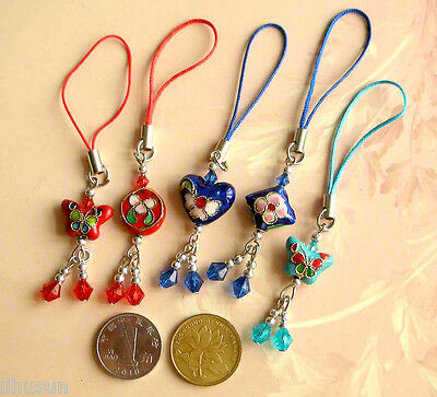 Lot 100 Pcs Chinese Handmade Enamel Unique Phone Charm Handbag Charms Straps