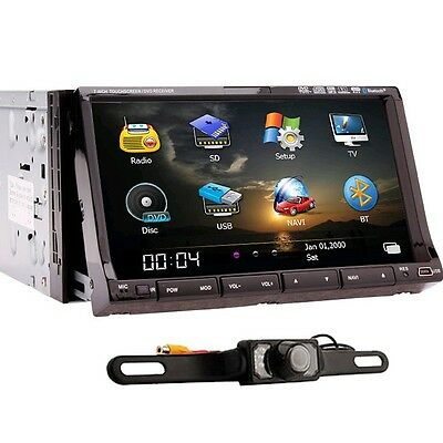"GPS Navi with 7"" Motorized Car Stereo DVD CD Player PIP Ipod Bluetooth+Came​ra"