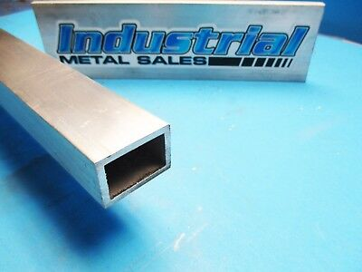 "6063 T52 Aluminum Rectangle Tube 1"" x 1-1/2 "" x 12""-Long x 1/8"" Wall-->NEW !"