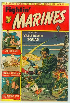 Fightin' Marines #2 October 1951 G/VG Matt Baker 1'st Canteen Kate