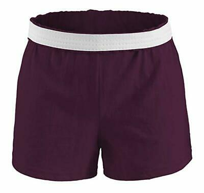 NEW SOFFE Juniors Youth Girls Athletic Gym Dance Cheer Knit Short Shorts S-XL