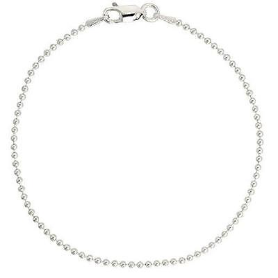 Sterling Silver Polished Bead, Ball Chain Necklace or Bracelet w/ LOBSTER CLASP