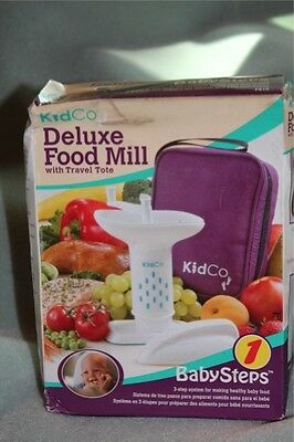 Kidco Deluxe Food Mill w/ travel tote Baby Steps NEW