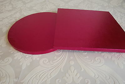"COLOURED 10"" cake drum / board CERISE / HOT PINK - round & square available"
