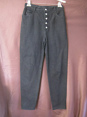 VTG 80's Bongo Black High Waisted Button Fly Jeans Size 11