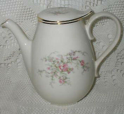 Taylor Smith Taylor Versatile Coffee Pot Pink Gray Flower Flowers Vintage