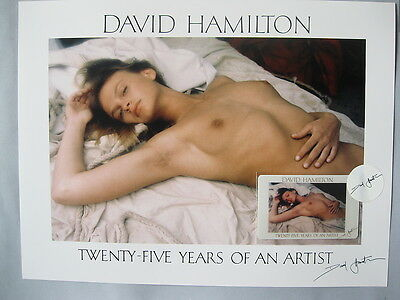 Rare Photo DAVID HAMILTON Twenty-Five Years of An Artist + Carte / 1173