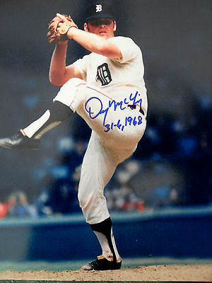 MVP ALL STAR DENNY MCLAIN SIGNED 8 x 10 COA PRIVATE SIGNING BUY AUTHENTIC