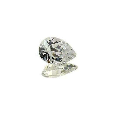 (5x3mm - 25x18mm) AAA Rated White Cubic Zirconia Pears **View Video**
