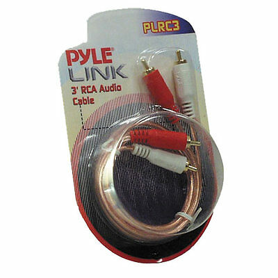 New Pyle PLRC3 3ft Stereo RCA Cable