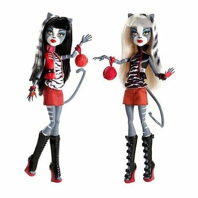 *NIB* MONSTER HIGH Werecat Twin Sisters ~ 2-pack ~ Meowlody and Purresphone