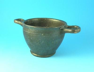 Apulian Ware South Italian Black Glazed Skyphos (F270)
