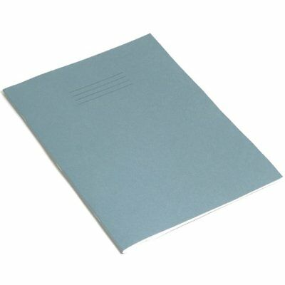 A4 School College Student Exercise Book Ruled (8mm) Margined Dark Blue 64 Pages