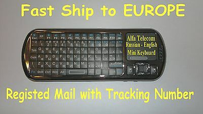 RUSSIAN - ENG mini wireless keyboard for Linux - google tv - Android BOX  WINDOWS