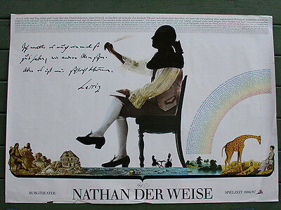NATHAN THE WISE Burgtheater 23x46 Theatre Poster 1986/87 Gotthold Lessing 1779