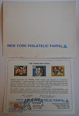 1985 New York Philatelic Fair - The Grimm Brothers Cachet