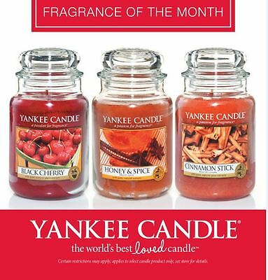 SALE Fragrances 33% OFF !! Yankee Candle Large 22oz Jars Scented Candles