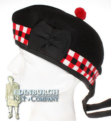 Scottish Glengarry Woollen Hat - Different Patterns & Sizes Available!