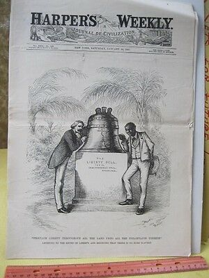 Vintage Print,LIBERTY THROUGH THE LAND,Black Americana,Harpers,1885