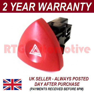 For Renault Laguna Trafic Espace Vel Satis Hazard Warning Switch Red Button Dash