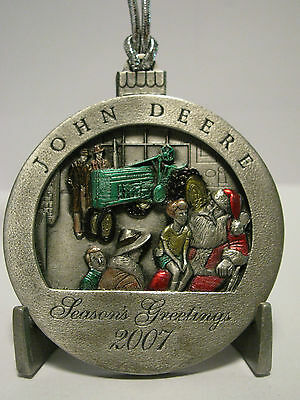 * 2007 John Deere H Tractor Pewter Christmas Collector Ornament  12th Series