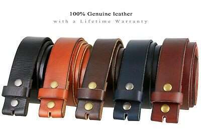 "FULL GRAIN LEATHER BELT STRAP ONE PIECE 11//2/"" WIDE FIVE COLORS NEW NWT BS 40"