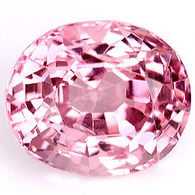 Oval~1.50 Cts. Purplish Pink Color Natural Spinel Ceylon  Unheated