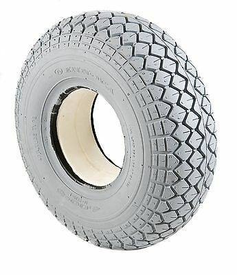 Punture Proof  Mobility Scooter Tyre 330x100 400x5 Grey Diamond Block Tread