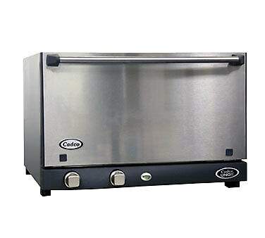 Cadco OV-013SS Convection Oven, electric, countertop, 1.34 cubic feet, half-size