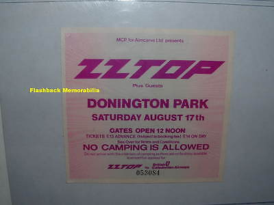 ZZ TOP / METALLICA 1985 Concert Ticket Stub DONINGTON PARK U.K. Cliff Burton